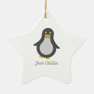 Asv pingvin julgransprydnad keramik