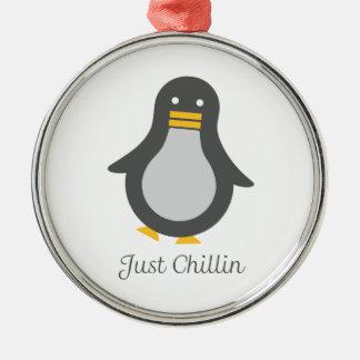 Asv pingvin julgransprydnad metall