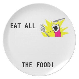 Äta alla mat! Meme platta Tallrik