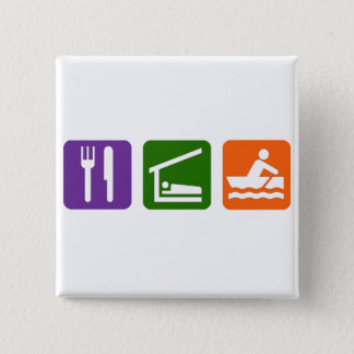 Äta att förse med besättning för sömn standard kanpp fyrkantig 5.1 cm
