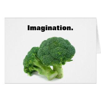 Äta broccoli Imaginatively Hälsningskort