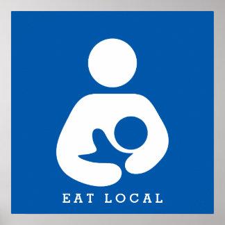 Äta den lokal-/breastfeeding-/sjukvårdsymbolen poster
