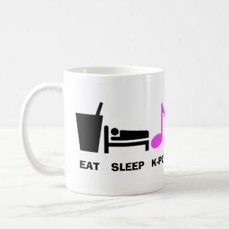Äta den sömnKpop muggen Kaffemugg
