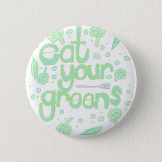 äta dina gröntar standard knapp rund 5.7 cm