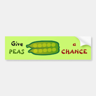 Äta dina Veggies ger ÄRTOR en RISKERAbildekal Bildekal