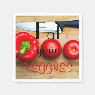 Äta dina veggies pappersservett