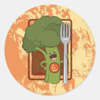 Äta dina veggies! runt klistermärke