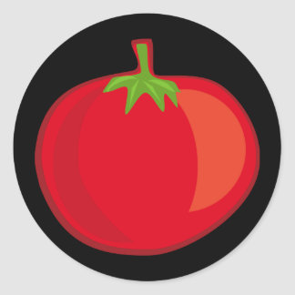 Äta dina Veggies tomatklistermärken Runt Klistermärke