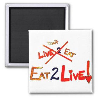 Äta direkt för att banta magnet