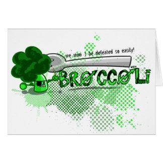 Äta ditt broccolikort hälsningskort