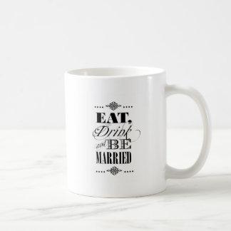 Äta, drinken & att gifta sig kaffemugg