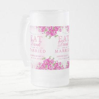 Äta, drinken och att gifta sig - den rosa frostat ölglas
