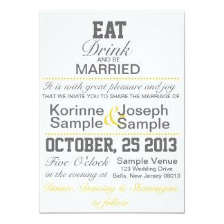 Äta, drinken och att gifta sig gifta sig inbjudan