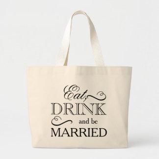 Äta, drinken och att gifta sig jumbo tygkasse