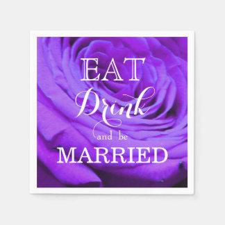Äta drinken och att gifta sig papper servett