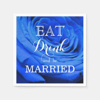 Äta drinken och att gifta sig papper servetter