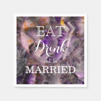Äta drinken och att gifta sig servett