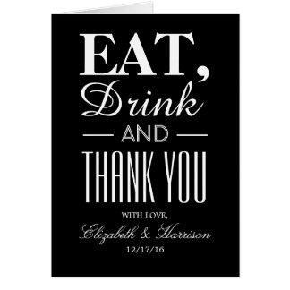 Äta, drinken och tack OBS kort