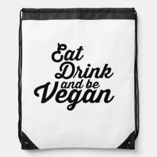 Äta, drinken och var Vegandrawstringryggsäcken Gympapåse