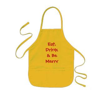 Äta, drinken & var glad barnförkläde