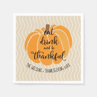 Äta drinken & var tacksam servetter