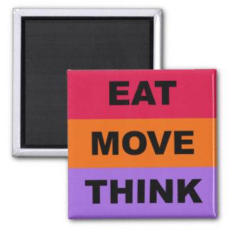 Äta flyttningtänkamagneten magnet