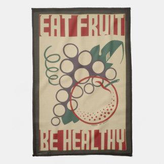 Äta fruktkökshandduken kökshandduk