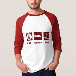 Äta gåvor för sömnfiskfiske t shirts