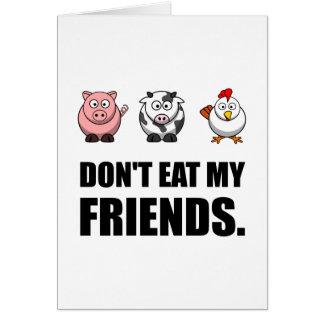 Äta inte min vänner OBS kort