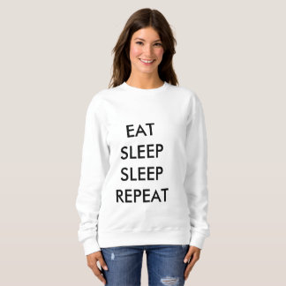 äta kvinna för sömnsömnrepetition tröja