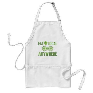Äta lokalen, ritt någonstans förkläde