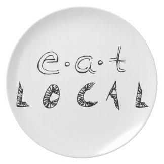 Äta lokalen tallrik