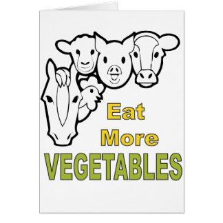 Äta mer grönsaker! - Djur instämm! OBS Kort