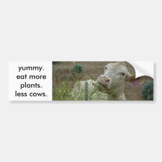 äta mer växter.  mindre cows. bildekal