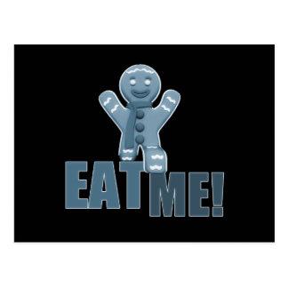 ÄTA MIG! Pepparkaksgubbe - blått Vykort