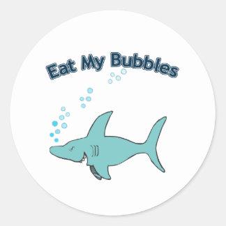 Äta mitt bubblar runt klistermärke