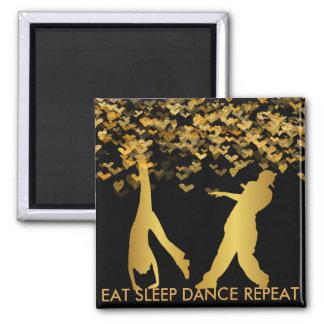 Äta modern guld- hjärta för sömndansrepetition magnet