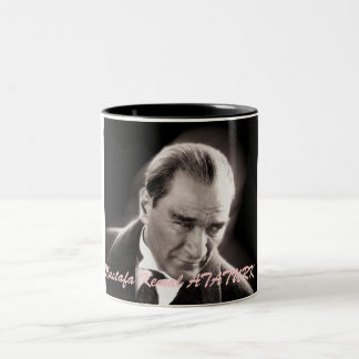 ata Mustafa Kemal ATATURK Två-Tonad Mugg