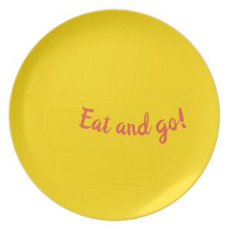 Äta och gå tallrik