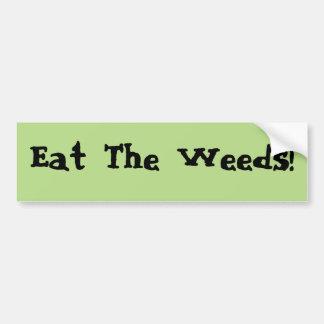 Äta ogräsbildekalet bildekal