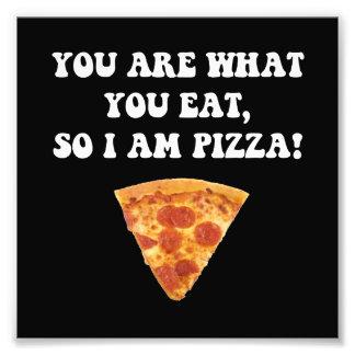 Äta Pizza Fototryck