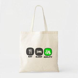 Äta. Sömn. Agility. Green. Tygkasse