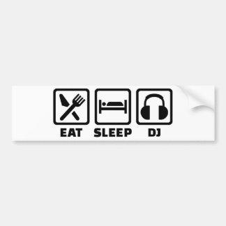 Äta sömn DJ Bildekal
