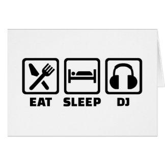 Äta sömn DJ Hälsningskort