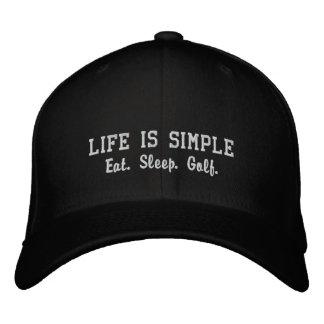 Äta. Sömn. Golf. Broderade Kepsar