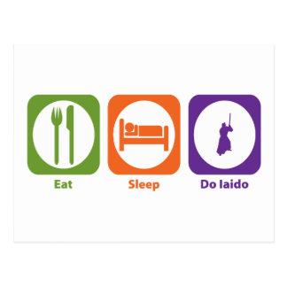 Äta sömn gör Iaido Vykort