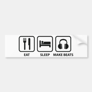 Äta sömn gör takter bildekal