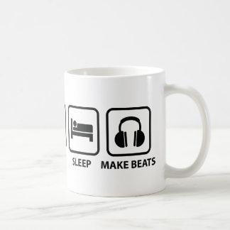 Äta sömn gör takter kaffemugg