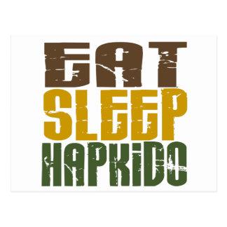Äta sömn Hapkido 1 Vykort