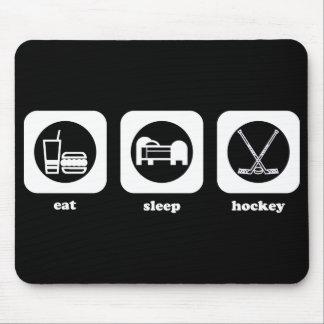 Äta. Sömn. Hockey. Mousepad Musmatta